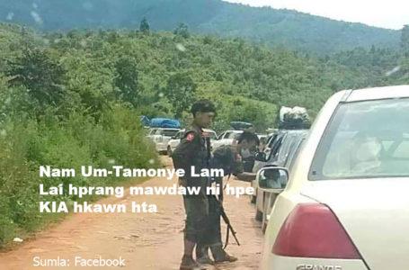Nam Um-Tamonye lai hprang mawdaw ni hpe KIA hkawn hta