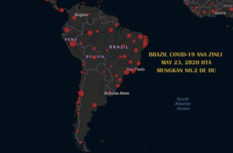 Brazil COVID-19 kap bra madang mungkan No.2 de du wa